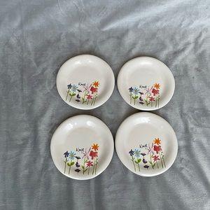 4 Rae Dunn Bloom Appetizer Plates